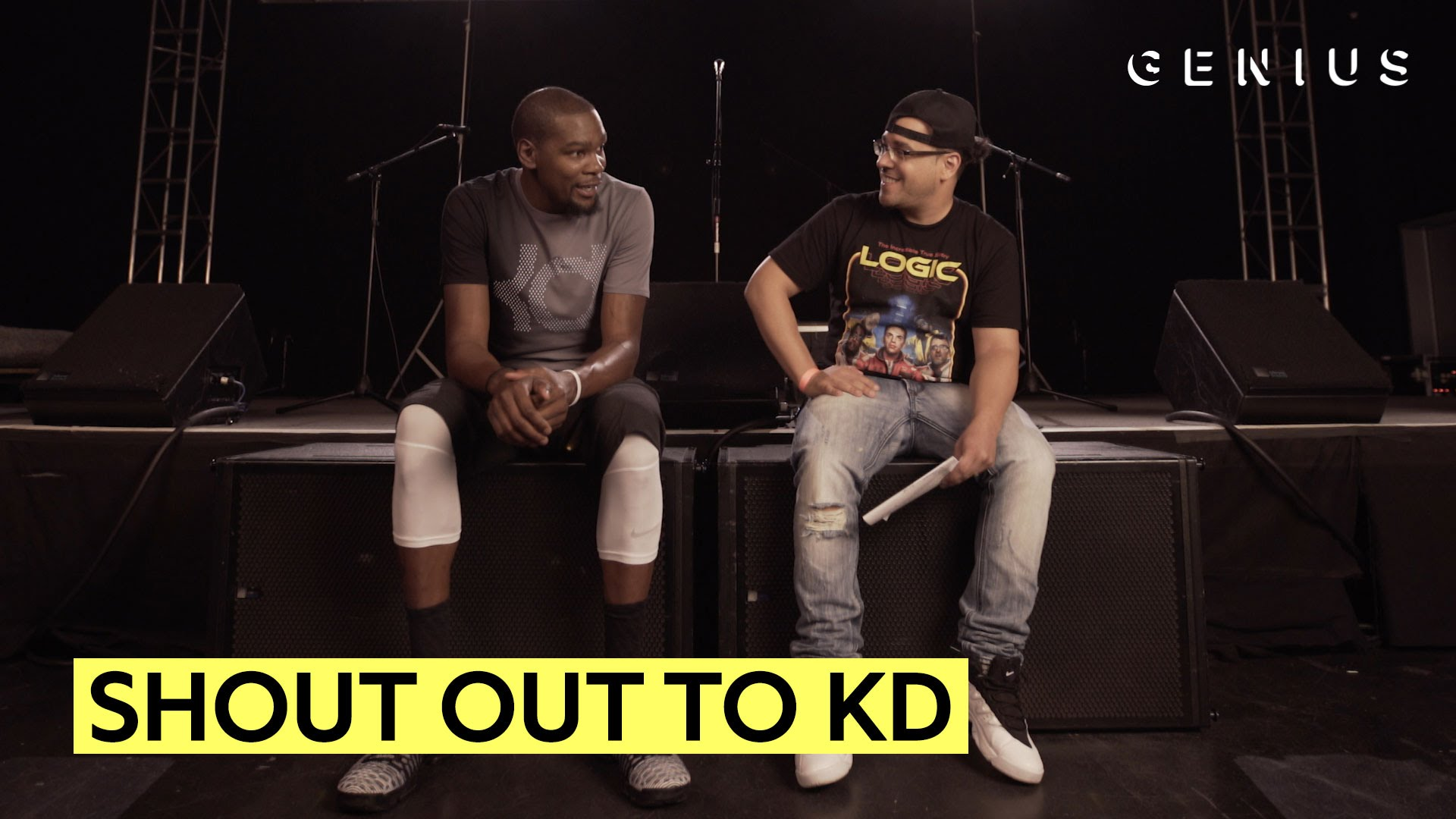 Kevin Durant reacts to being named by rappers in songs