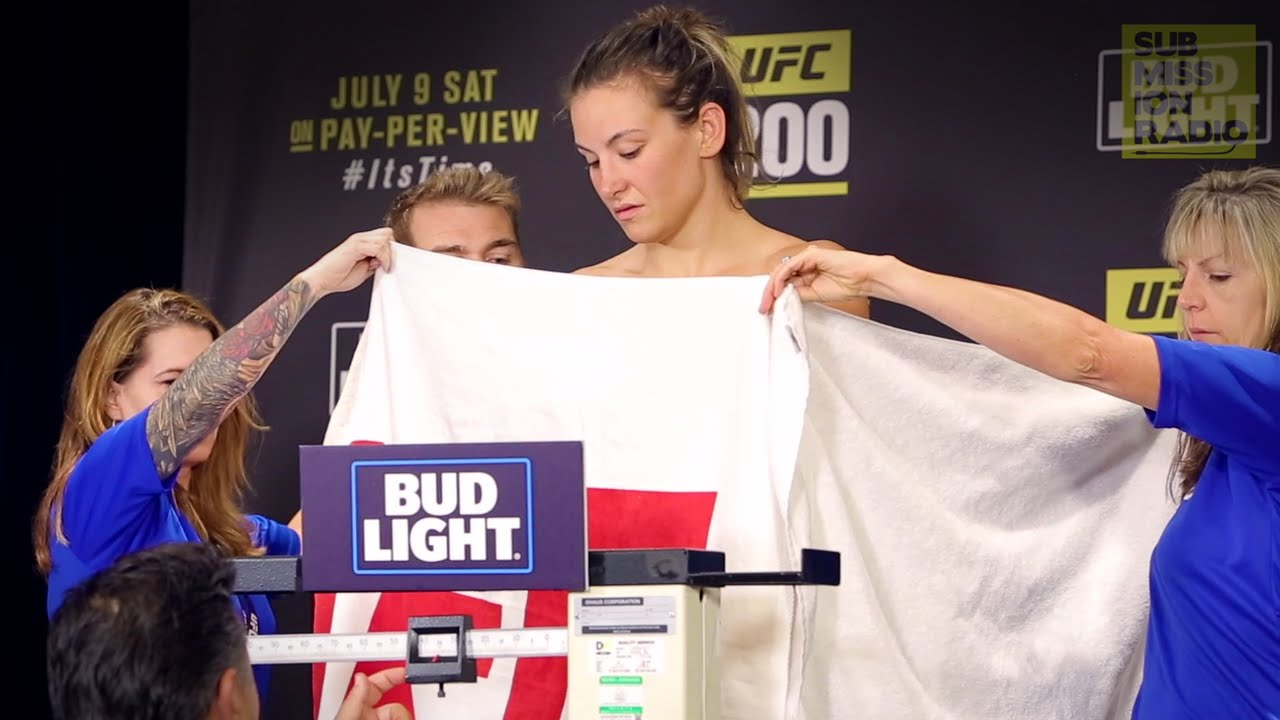 Miesha Tate had to strip nude in order to make UFC 200 weight