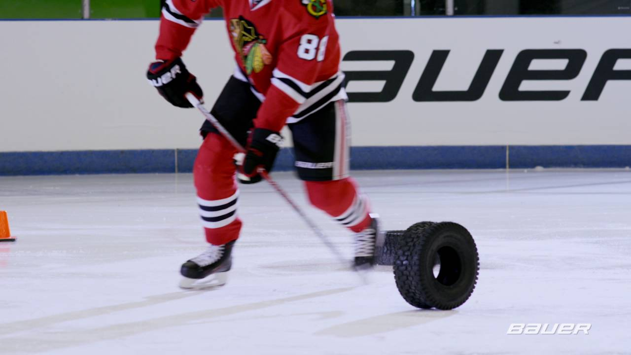 Patrick Kane plays in the stickhandler's playground