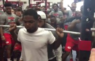 UNLV football goes to insane heights to help motivate weight lifter