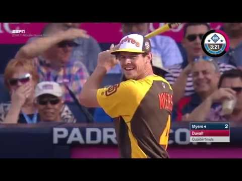 Wil Myers hit by pitch during the Home Run Derby