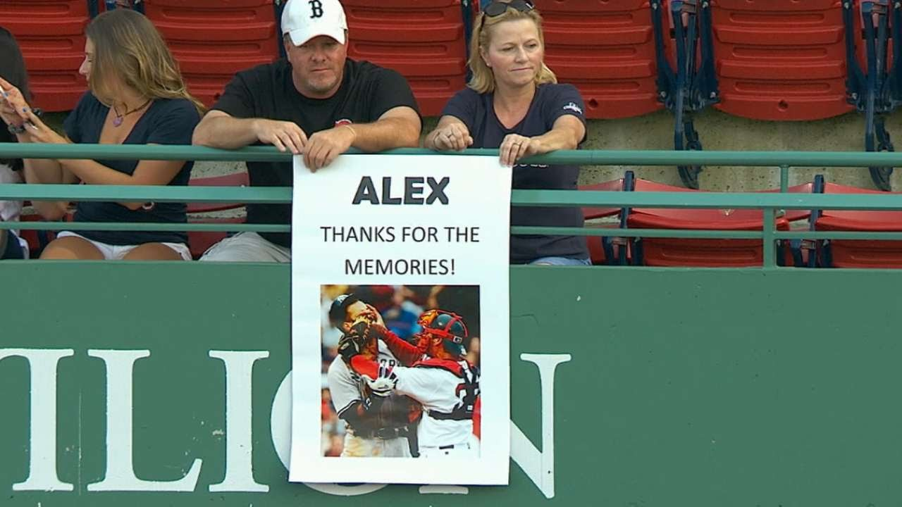 Alex Rodriguez receives boo's from Fenway Faithful for the final time
