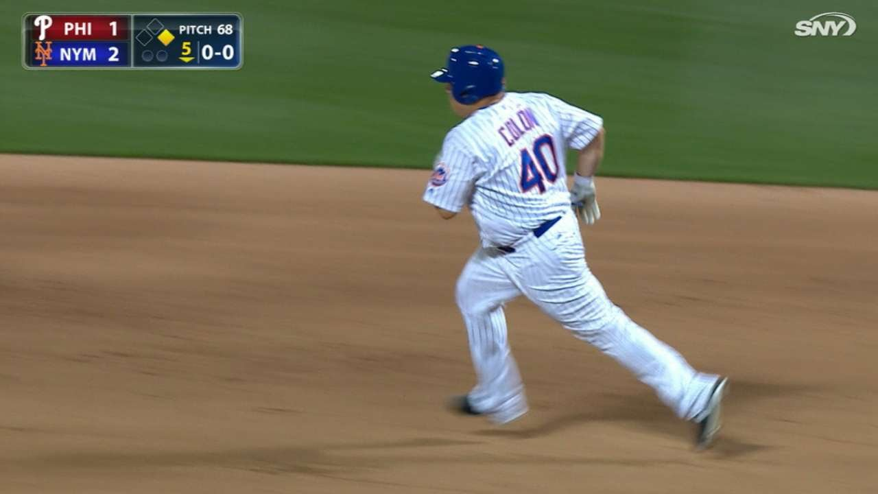 Bartolo Colon smokes a double into the gap