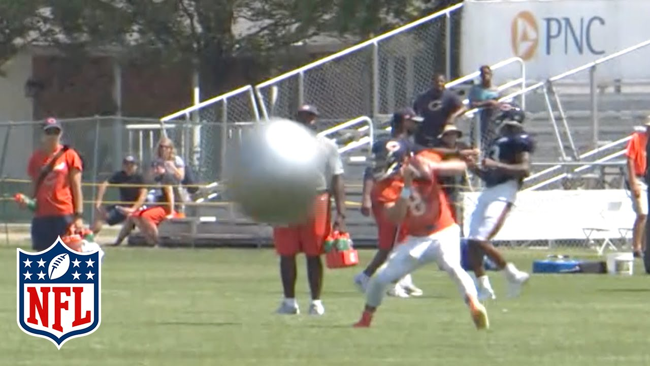 Bears throw Yoga Balls at their QBs during Training Camp