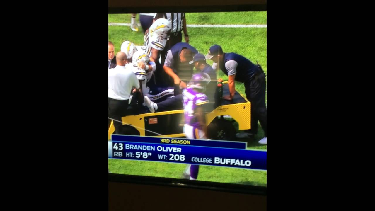 Chargers RB Brandon Oliver suffers gruesome ACL tear