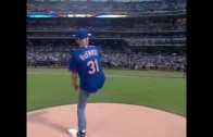 John McEnroe throws a vicious heater in first pitch for the Mets