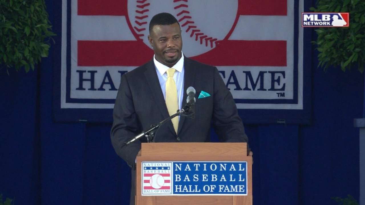 Ken Griffey JR's entire Hall of Fame Induction Speech