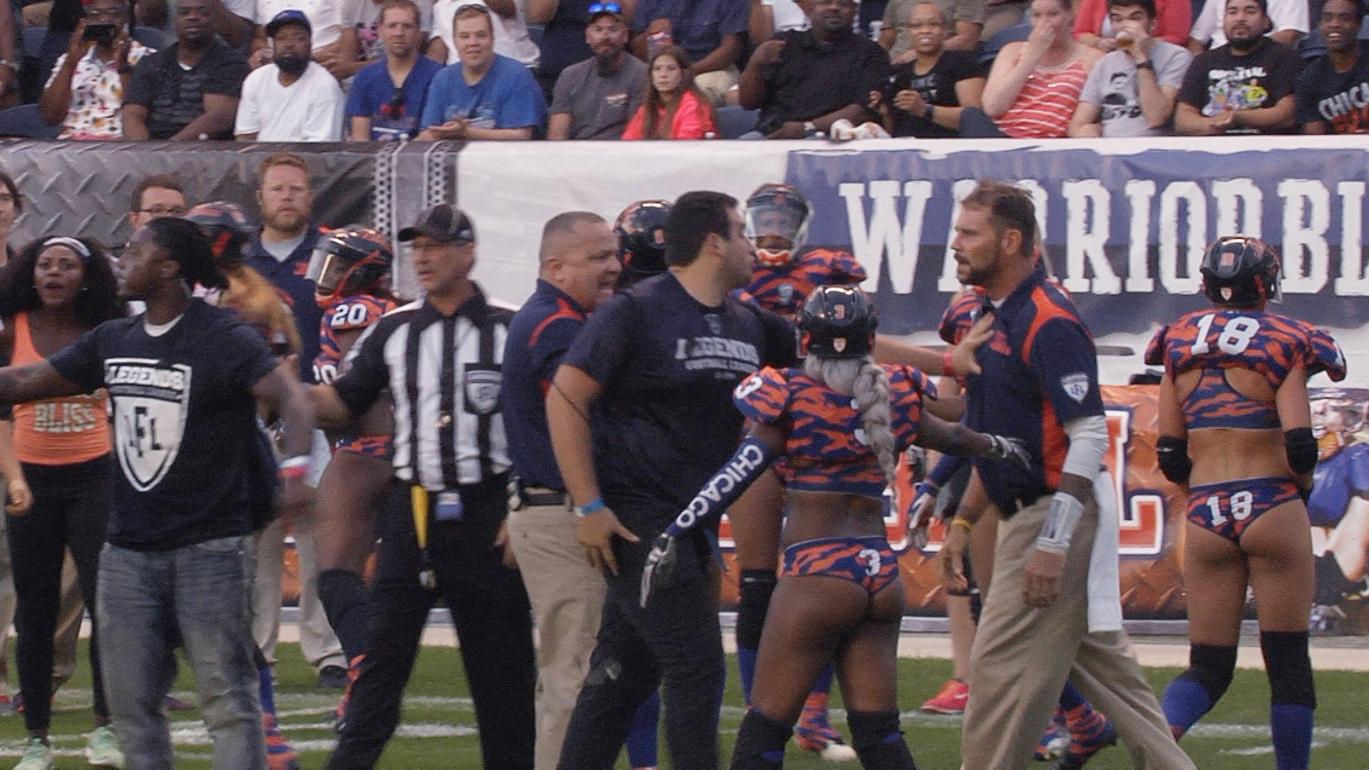 LFL Coach gets punched in the face during scrum