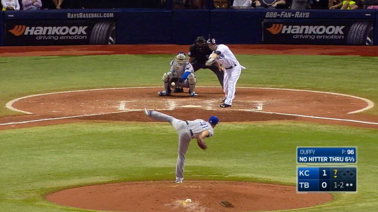 Danny Duffy's 16 Strikeouts in 16 Seconds