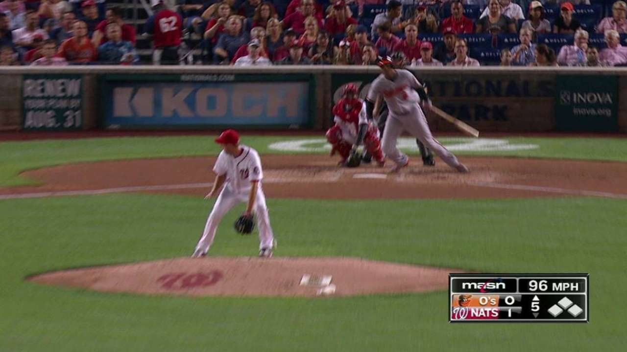 Max Scherzer makes a no-look grab between his legs