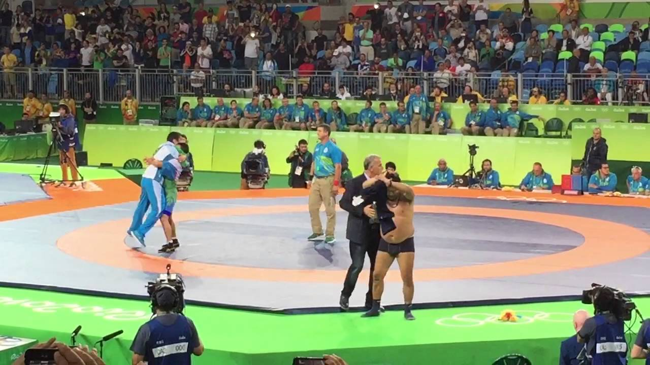Mongolian wrestling coaches go crazy after controversial Olympic loss