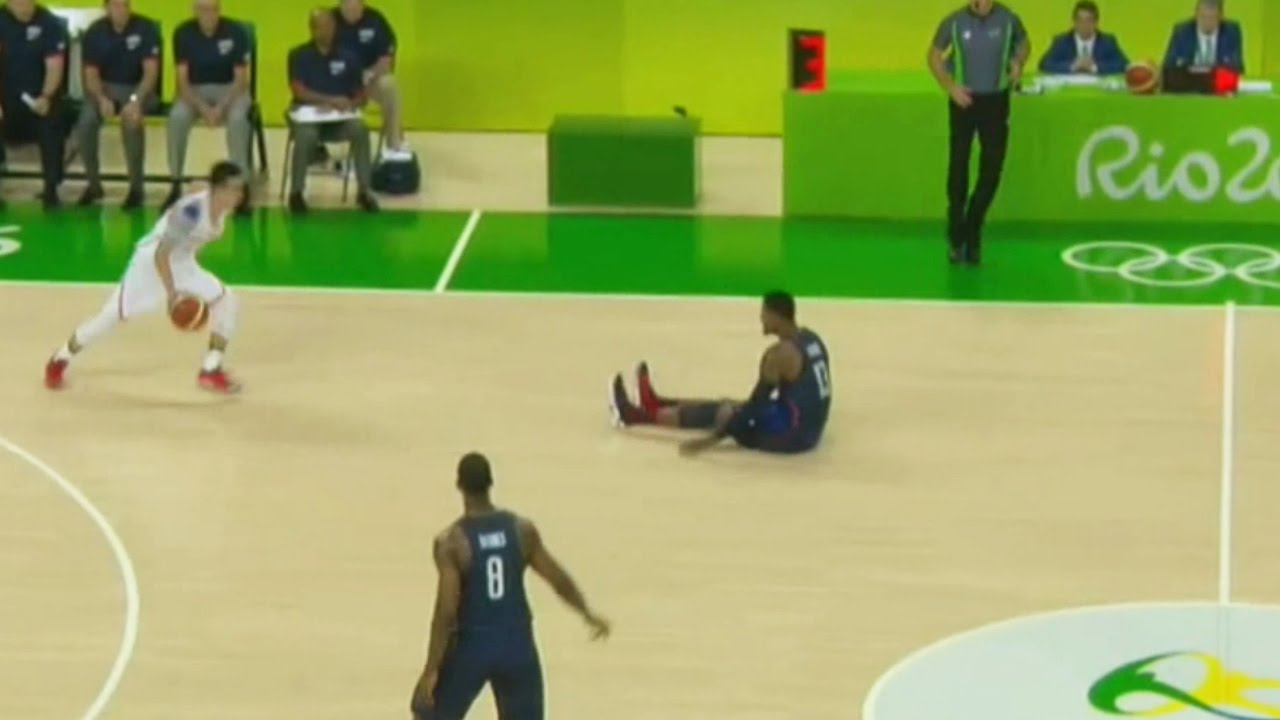 Paul George gets crossed by Chinese player