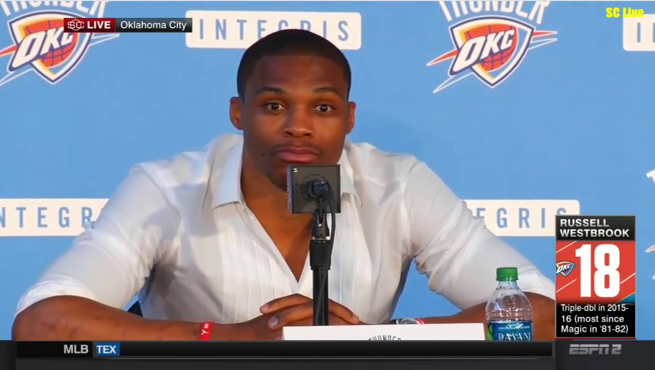 Russell Westbrook speaks on re-signing with the Oklahoma City Thunder
