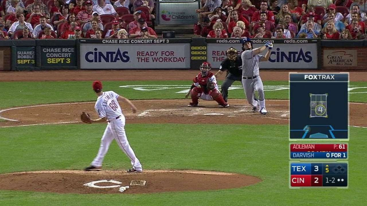 Yu Darvish belts his first career home run