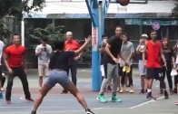 Ayesha Curry nails a 3-pointer in a pick up game