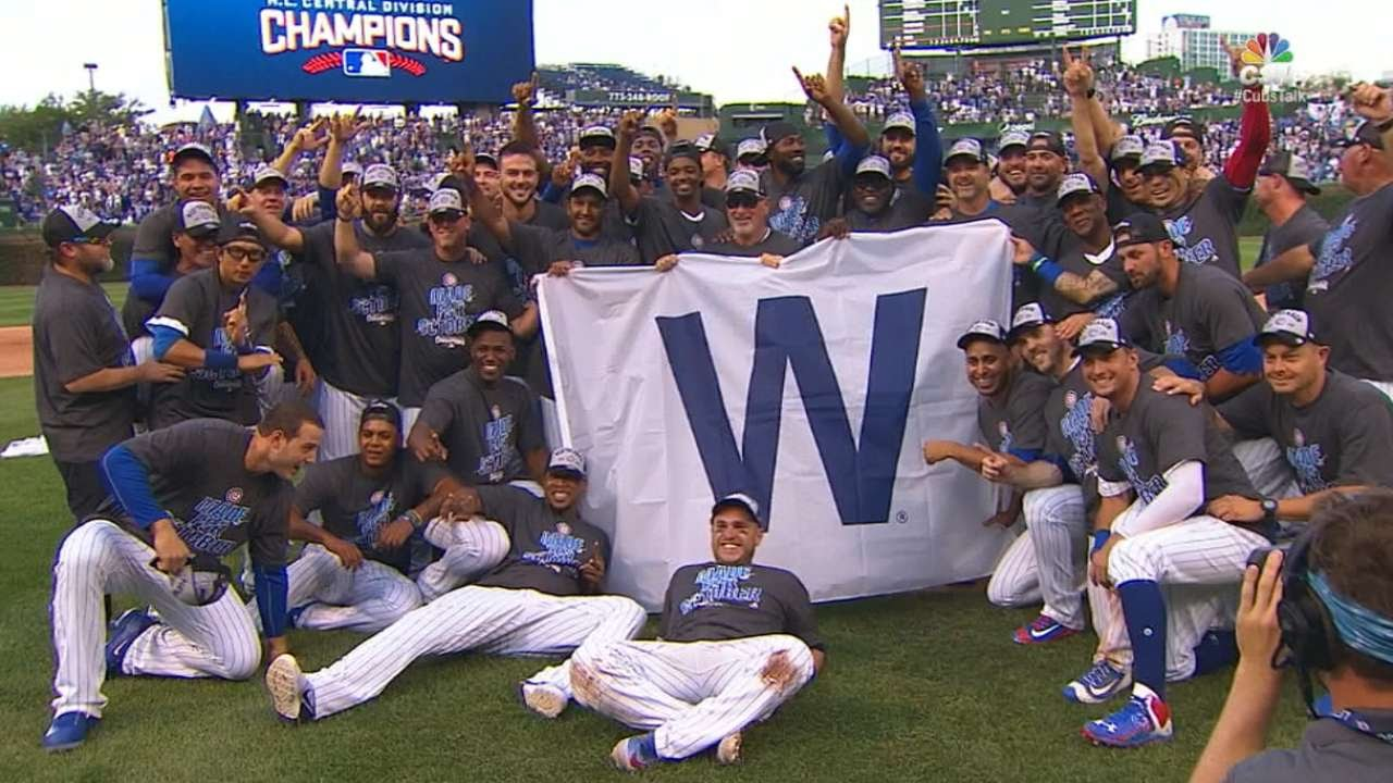 Chicago Cubs celebrate 2016 NL Central division title