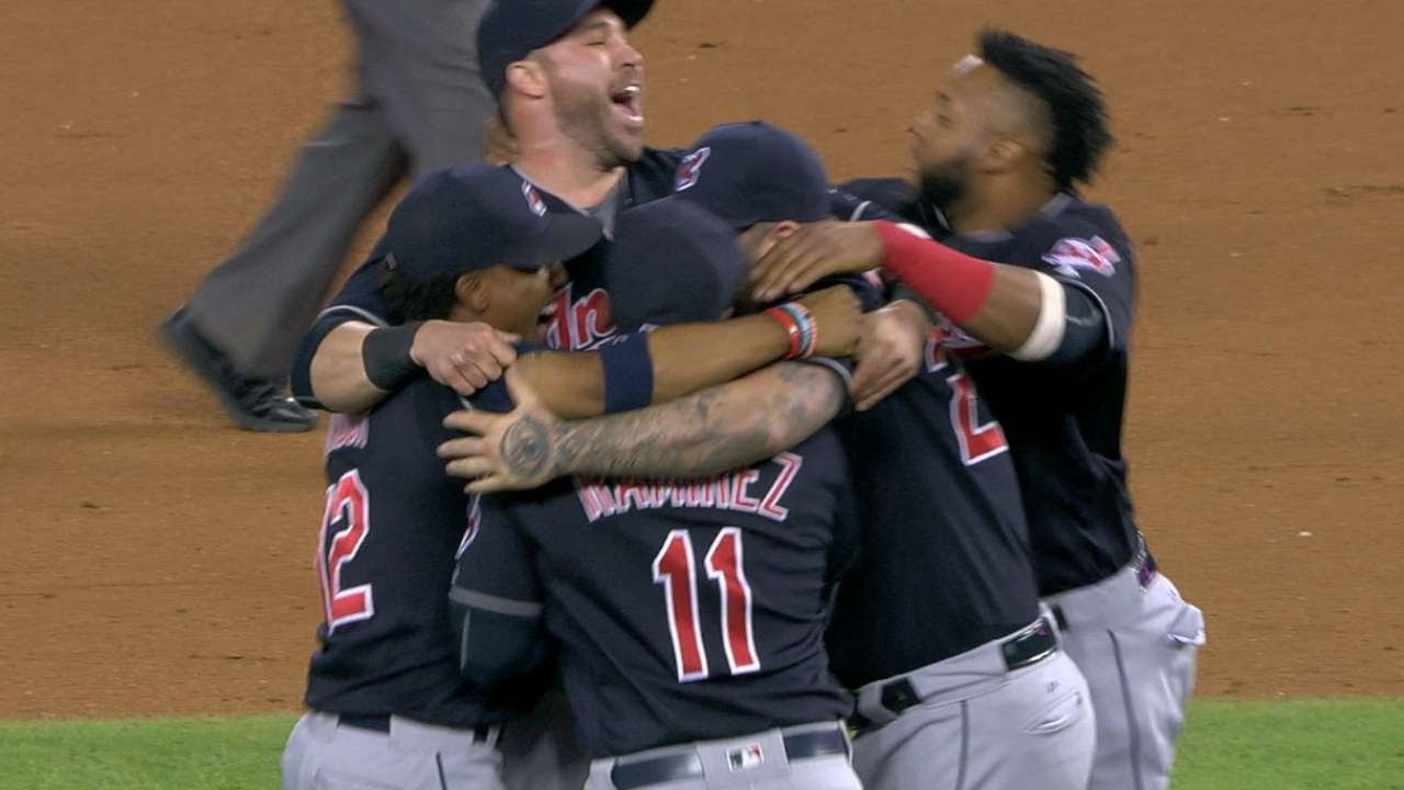 Cleveland Indians clinch AL Central division championship