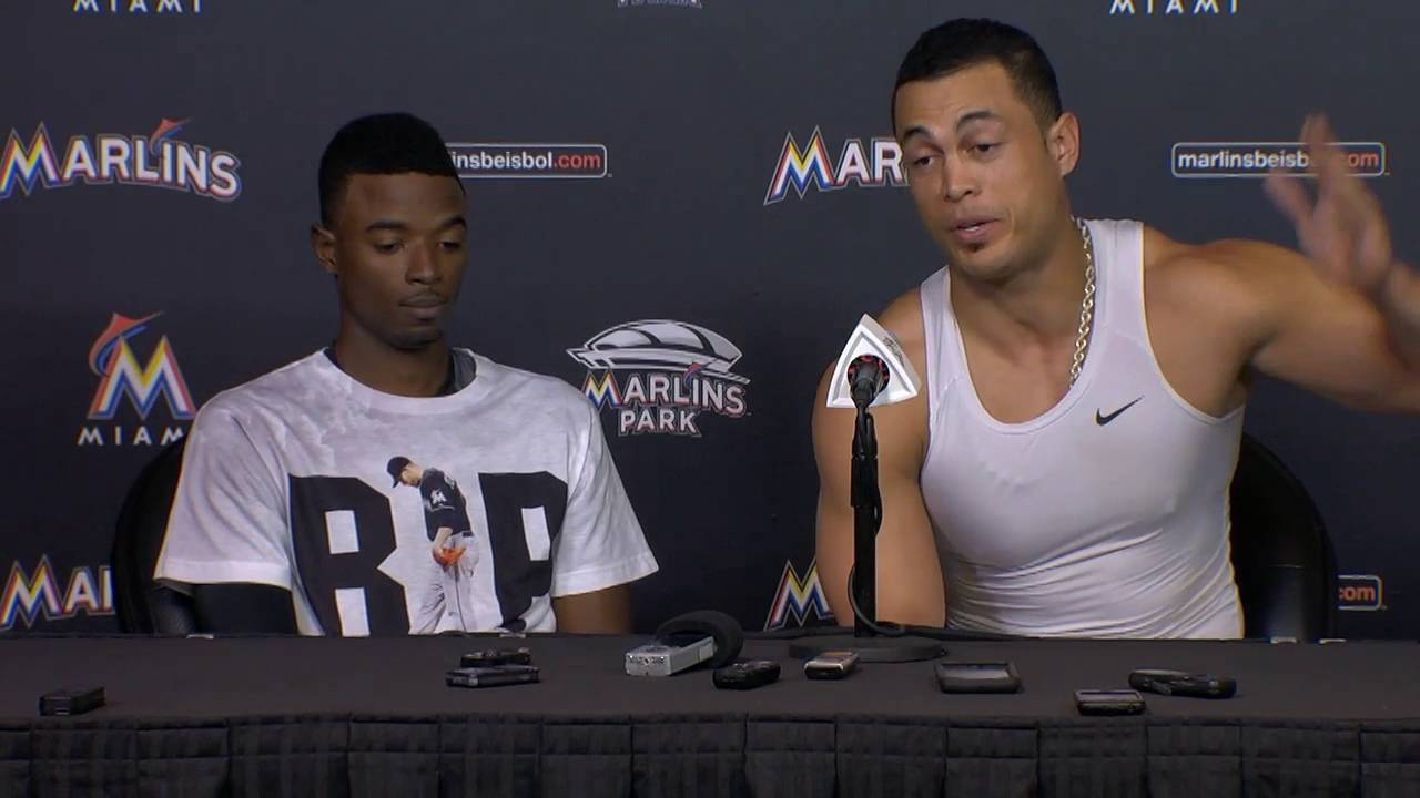 Dee Gordon & Giancarlo Stanton speak on the Marlins emotional game