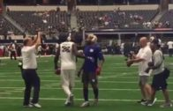 Dez Bryant & Odell Beckham Jr play catch before kickoff
