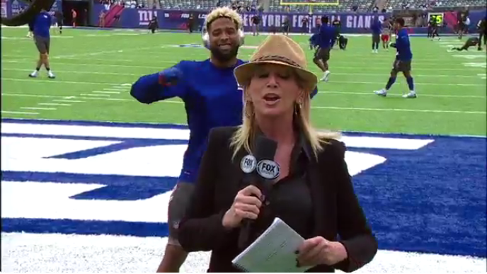 Odell Beckham Jr. video bombs Fox Sports reporter