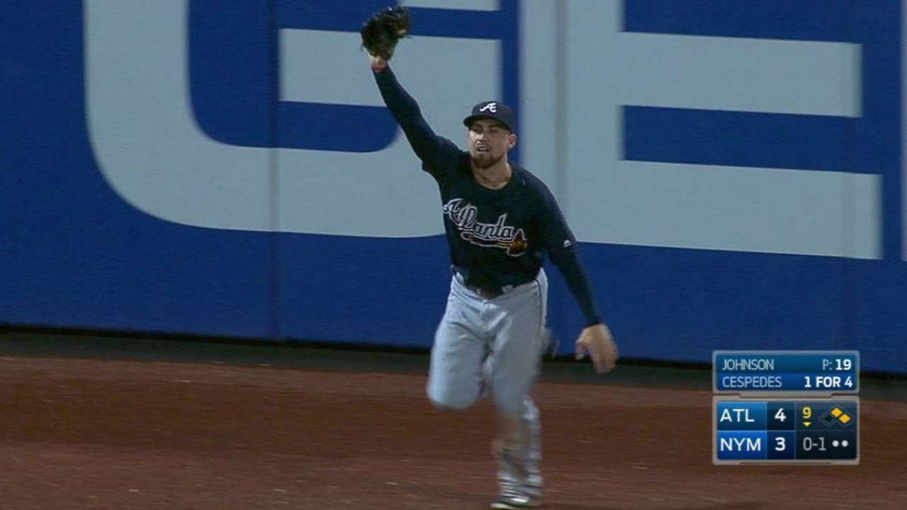 Ender Inciarte robs Yoenis Cespedes& the Mets of a walk off homer