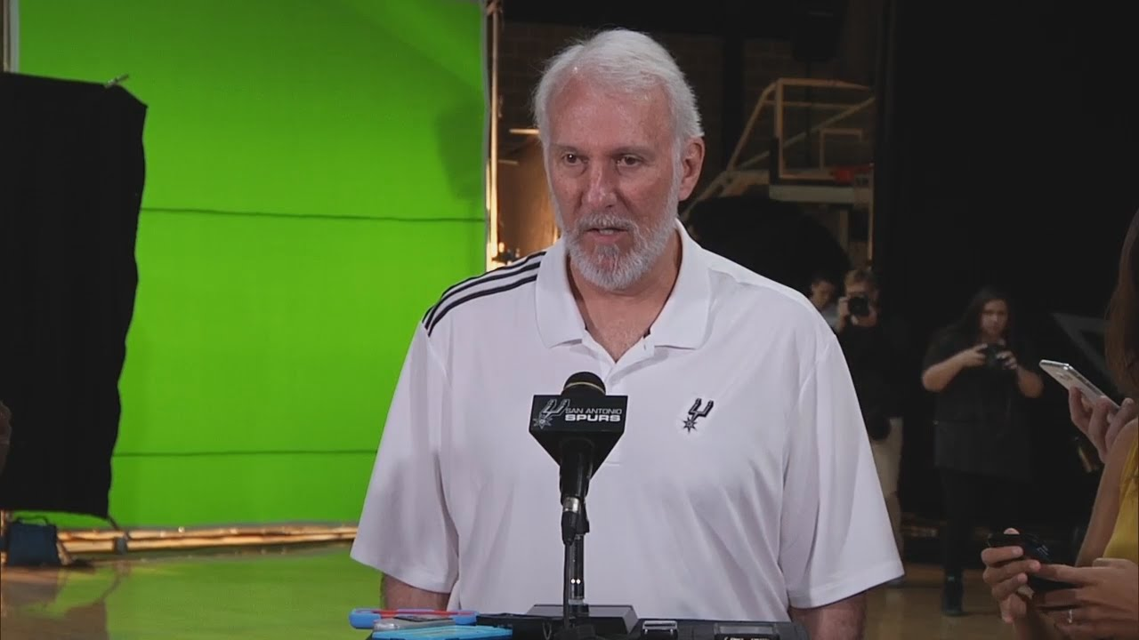 Gregg Popovich speaks on police brutality issues at Spurs Media Day