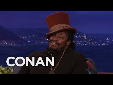Marshawn Lynch plays Willy Wonka on Conan