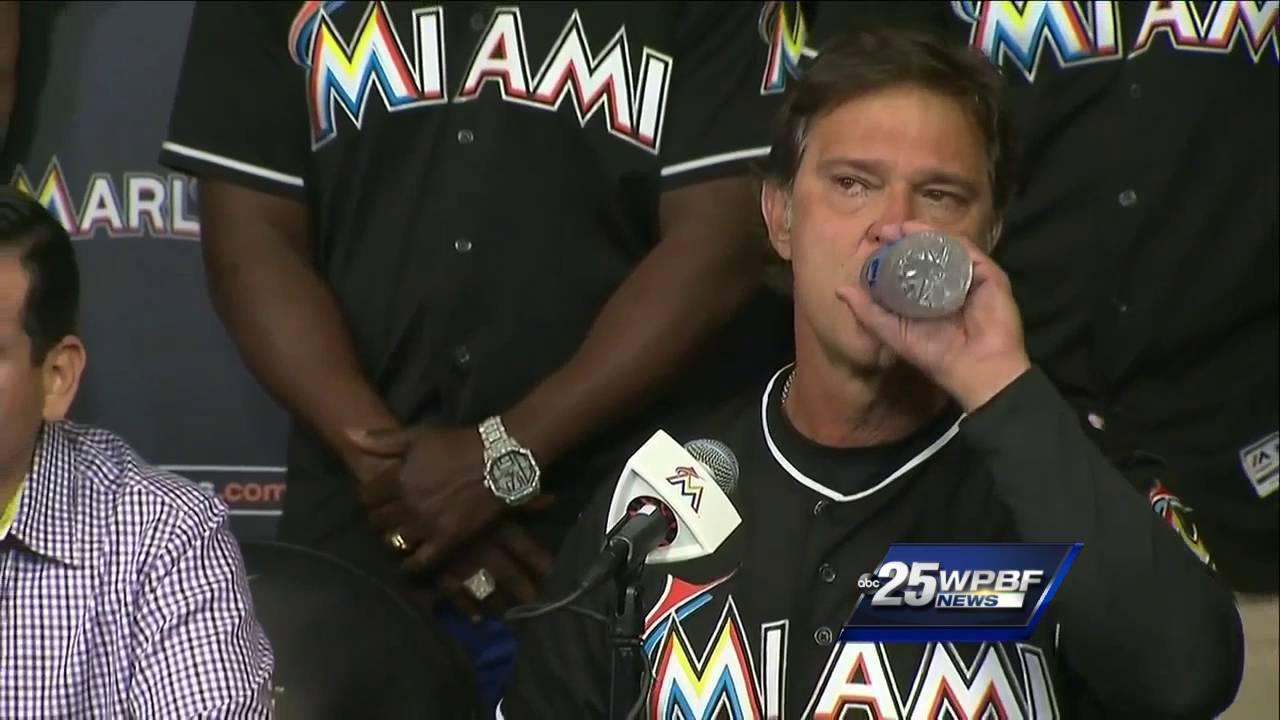 Miami Marlins emotional press conference on Jose Fernandez