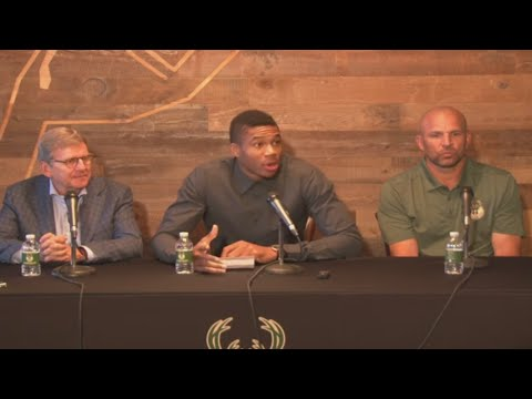Milwaukee Bucks announce Giannis Antetokounmpo extension (Press Conference)
