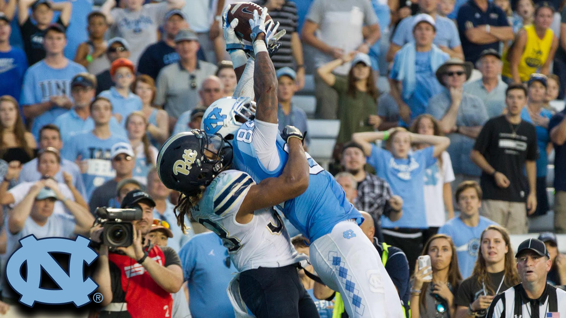 North Carolina beats Pittsburgh on a last second touchdown pass