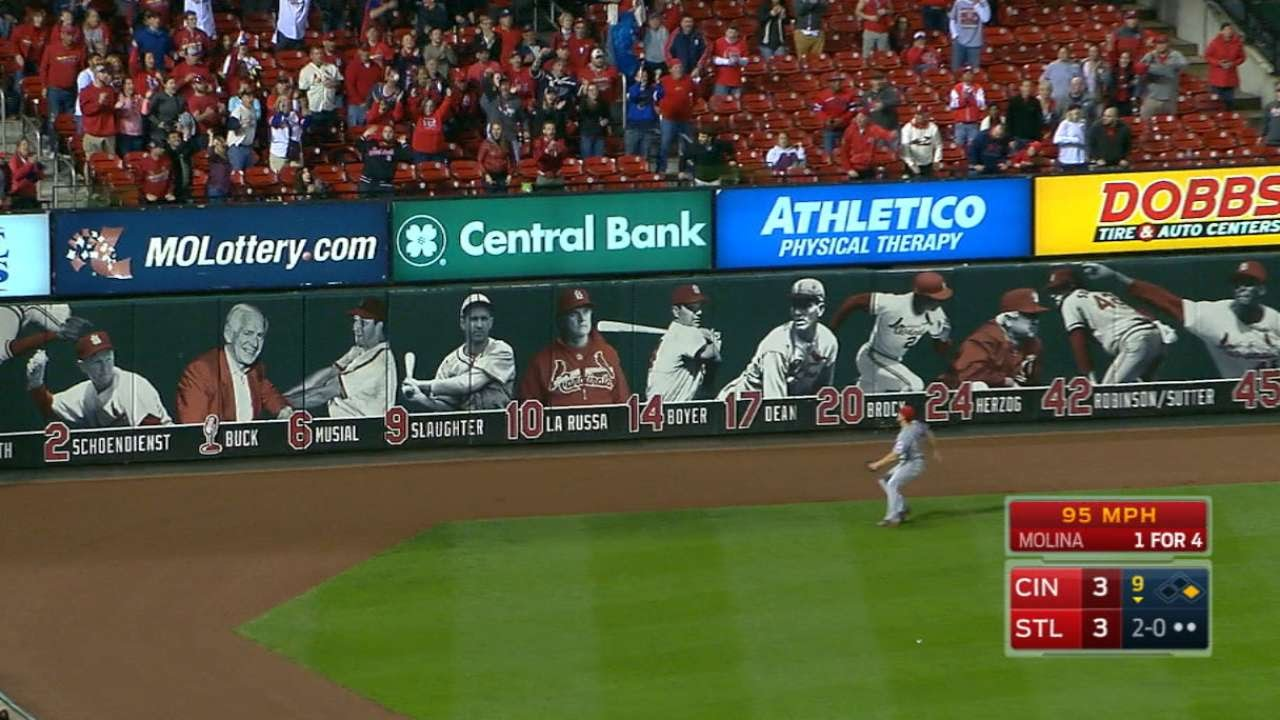 Yadier Molina hits controversial walk off double for the Cardinals