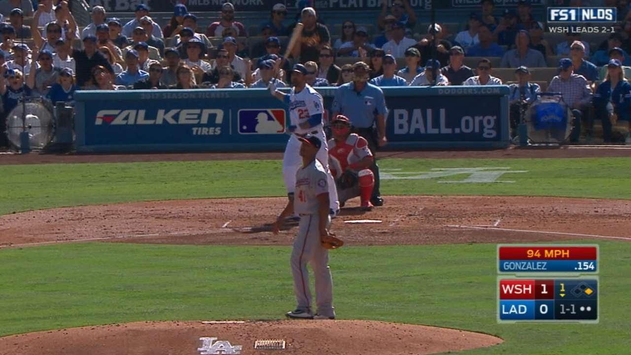 Adrian Gonzalez smacks 2-Run Homer for the Dodgers in Game 4