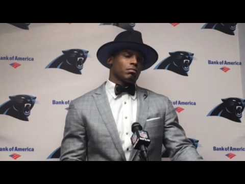 Cam Newton walks off of press conference after 1 minute & 30 seconds