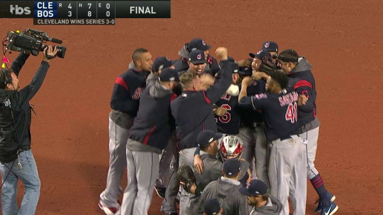 Cleveland advances to the ALCS after sweeping the Red Sox