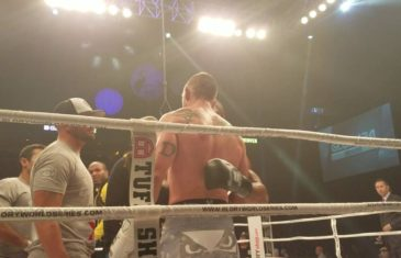 Fanatics View Live in Denver: Simon Marcus & Dustin Jacoby embrace after TKO