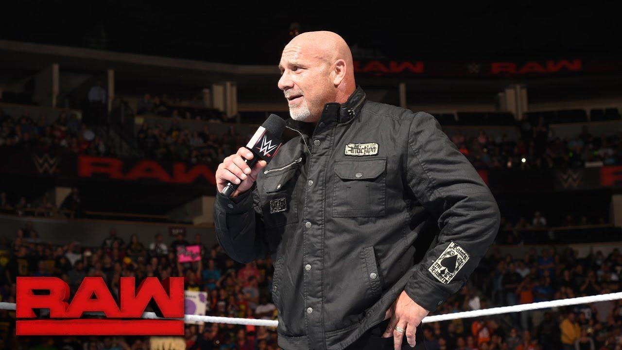Goldberg returns to send a message to Brock Lesnar