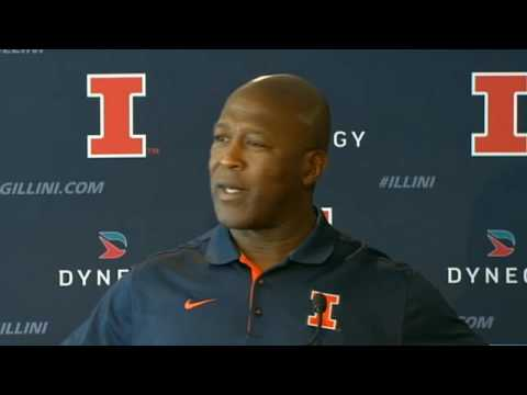 Illinois head coach Lovie Smith is not pleased with this question
