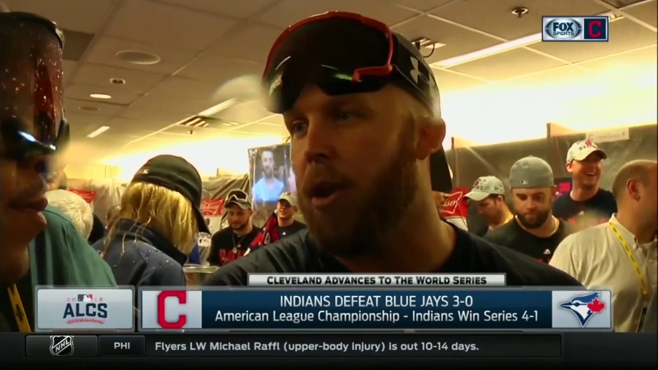 Indians' Cody Allen explains what happened with Jays fan on the field