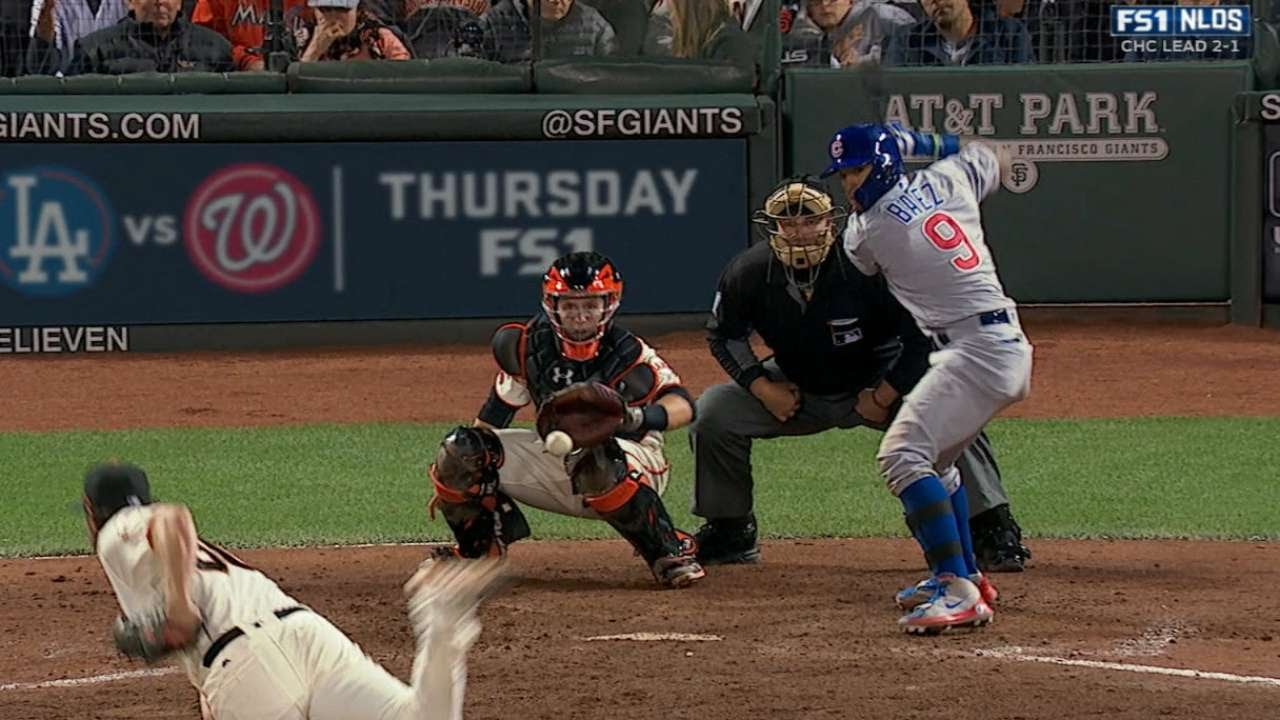 Javier Baez hits series winning RBI single in the 9th for the Cubs