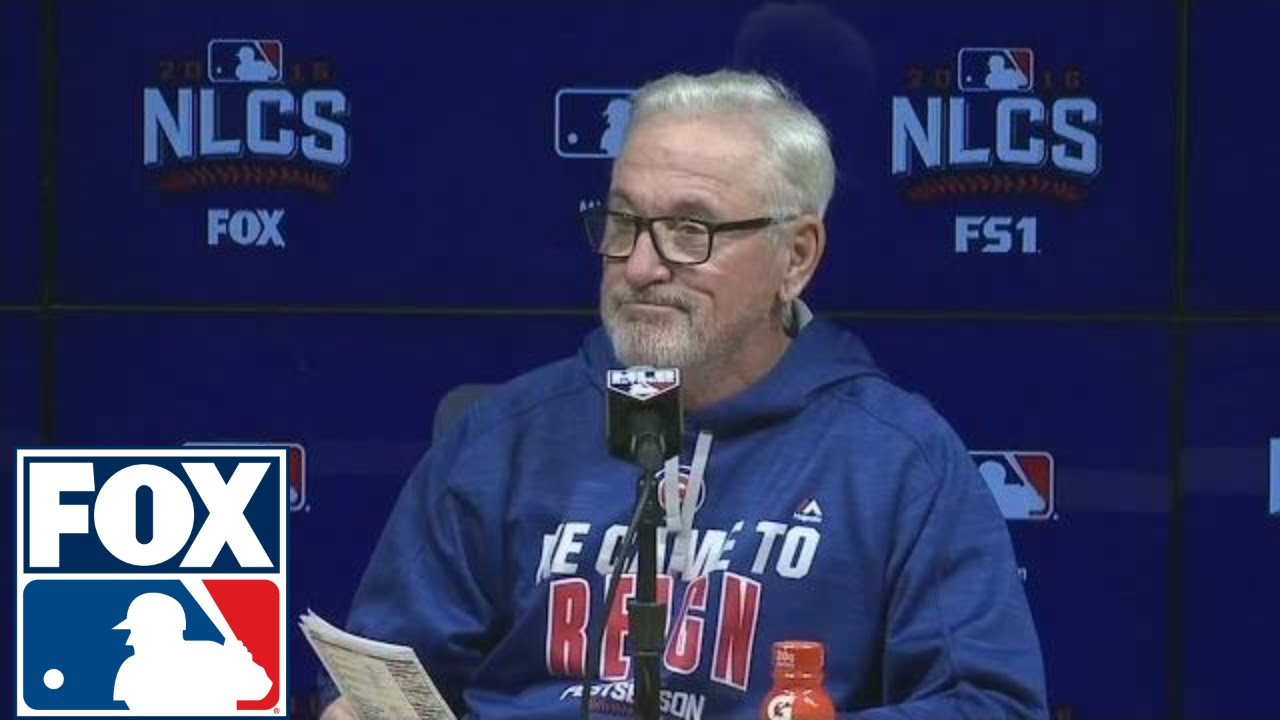 Joe Maddon speaks on the Cubs' loss in Game 3 of the NLCS
