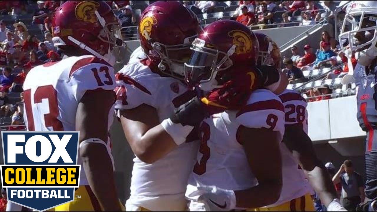 Juju Smith-Schuster's scores 3 TD's to help USC smack down Arizona