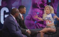 Lady Gaga talks Super Bowl Halftime Show with Michael Strahan