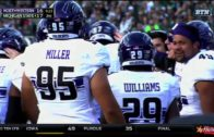 Northwestern's Joe Gaziano smokes Michigan State QB for a safety