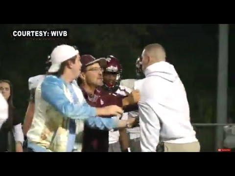 Ole Miss QB Chad Kelly restrained during brawl at his brothers high school game
