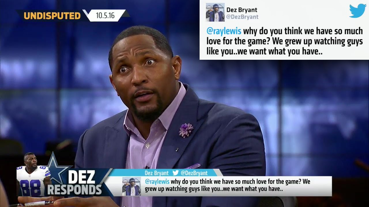 Ray Lewis responds back to Dez Bryant's tweet