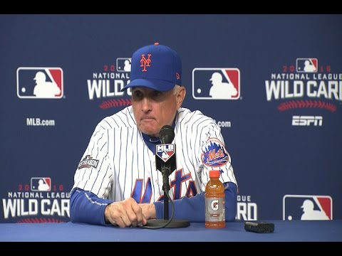 Terry Collins speaks on the Mets NL Wild Card game loss