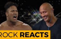 The Rock reacts to his first ever WWE match
