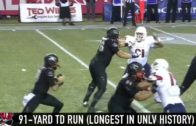 UNLV's Dalton Sneed takes it 91 yards to the house after avoiding sack