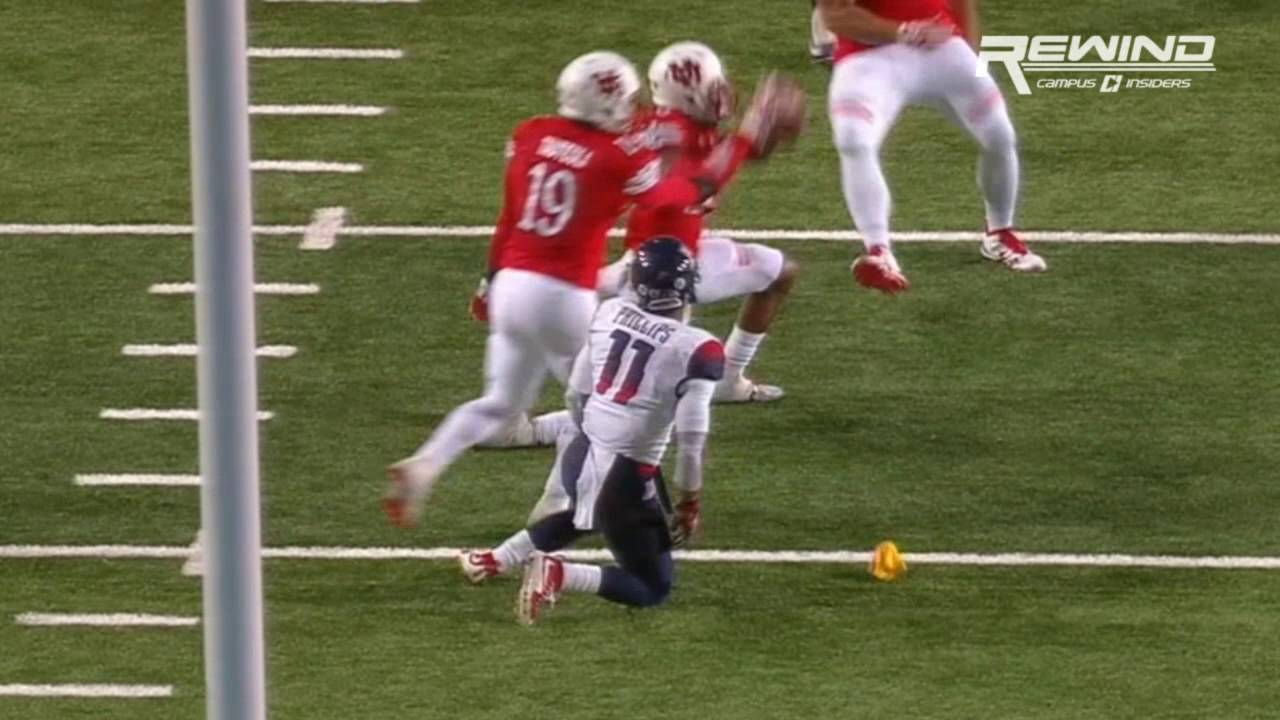 Utah's Marcus Williams catches an insane tipped interception