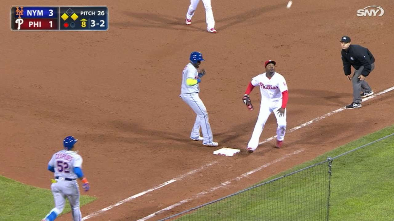 Yoenis Cespedes hits one of the most bizarre RBI ground outs of all time